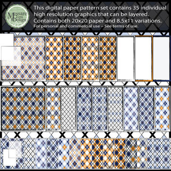 Argyle - Diamond Pattern Printable Digital Paper {Messare