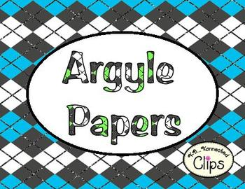 Argyle Digi-Papers - Glitter Accent!