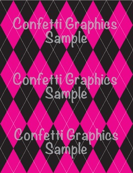 Argyle Digital Paper Pack Scrapbook Printable Background Pink Purple Grey Preppy