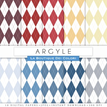 Argyle Digital Paper, scrapbook backgrounds.