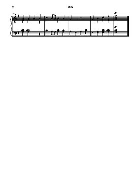 Aria from the Peasant Cantata for Tone Chimes/ Choir Chimes