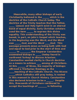Arianism and the Council of Nicaea Activity
