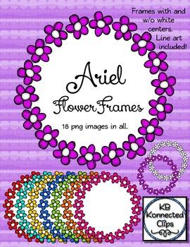 Ariel Doodle Flower Frames
