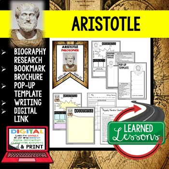 Aristotle Biography Research Bookmark Brochure Pop Up Writing Google