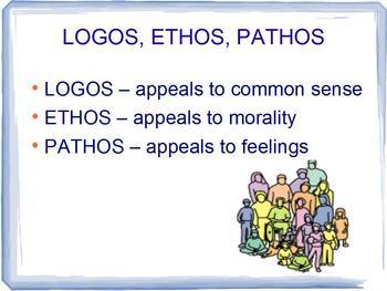 Aristotle Persuasive / Rhetorical Appeals - Logos Ethos Pathos