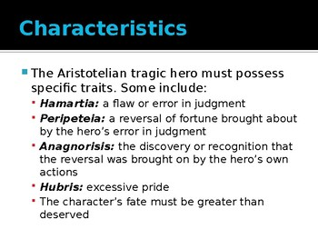 Aristotle and the Elements of Tragedy: The Tragic Hero and the Anti-Hero