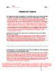 Aristotle's Tragedy Worksheet