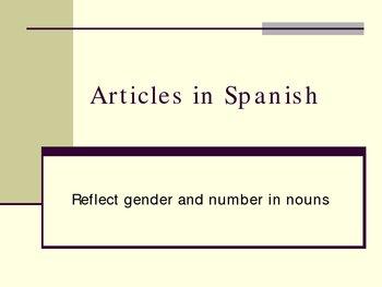 Aritcles in Spanish