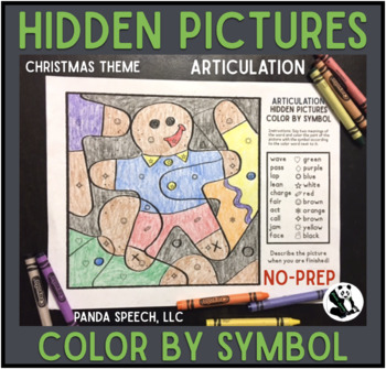 Aritculation Color by Symbol Hidden Images A Speech Therapy Activity