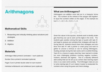 Arithmagons: Use Addition to Solve these Creative Problem Solving Puzzles
