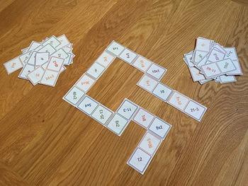 Arithmetic Dominoes Game