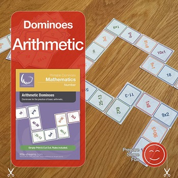 Arithmetic Dominoes Game