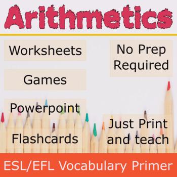 Arithmetic ESL / EFL Vocabulary Builder - English+Chinese