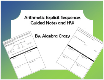 Arithmetic Explicit Sequences Guided Notes and HW