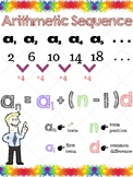Arithmetic & Geometric Sequence Poster