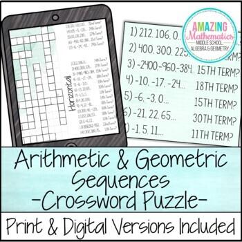 Geometric Sequences Activity & Worksheets | Teachers Pay Teachers