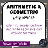 Arithmetic & Geometric Sequences