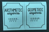 Arithmetic & Geometric Sequences (Foldable)