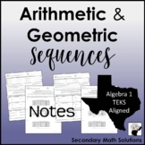 Arithmetic & Geometric Sequences Notes