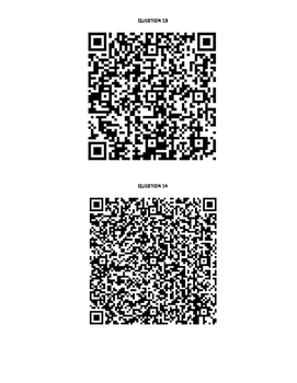 Arithmetic & Geometric Sequences QR Code Scavenger Hunt