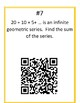 Arithmetic & Geometric Sequences & Series + Summation Notation QR Codes