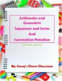Arithmetic & Geometric Sequences & Series + Summation Nota