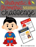 Arithmetic & Geometric Sequences {Stations}