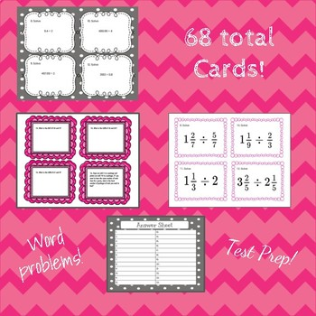Arithmetic Operations Including Division of Fractions Task Card Bundle