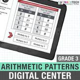 Arithmetic Patterns - 3rd Grade Digital Math Assignments