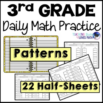Arithmetic Patterns Daily Math Review 3rd Grade Bell Ringers Warm Ups
