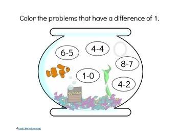 Arithmetic Practice Printables - Aquarium Seek and Find!