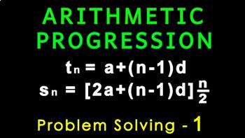 Arithmetic Progression   Problem Solving 1