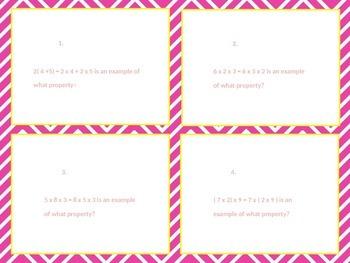Arithmetic Properties task cards