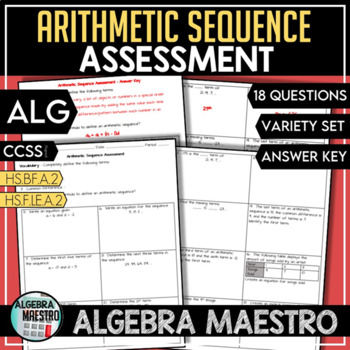 Arithmetic Sequence Assessment/Test