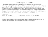 Arithmetic Sequence Go-To Activity