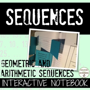 Arithmetic Sequence Interactive Notebook Foldable for Arit