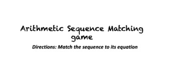 Arithmetic Sequence Matching worksheet