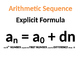 Arithmetic Sequence Poster