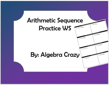 Arithmetic Sequence Practice