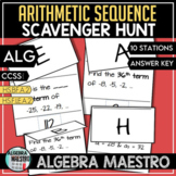 Arithmetic Sequence Scavenger Hunt