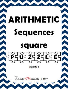 Arithmetic Sequence Square Puzzle