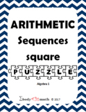 Arithmetic Sequence Square Puzzle