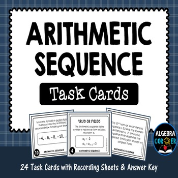 Arithmetic Sequence Task Cards