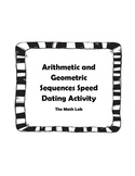 Arithmetic Sequence and Geometric Sequence Speed Dating Activity