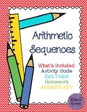 Arithmetic Sequences-Activity Guide, Exit Ticket, Homework
