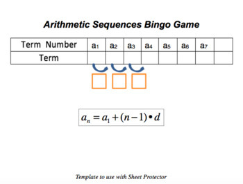 Arithmetic Sequences BINGO Game
