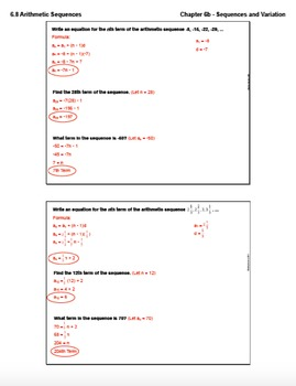 Arithmetic Sequences (Lesson Plan with Homework)