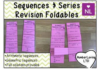Arithmetic Sequences (Foldable)