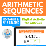Arithmetic Sequences Digital Activity for Google Drive