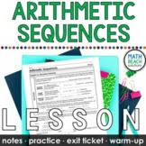 Arithmetic Sequences Lesson